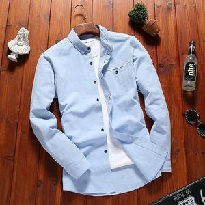 2020 New Men's Pure Cotton Shirt Slim Fit Fashion Long Sleeve Casual Business Shirts Men Dress Shirts High Quality