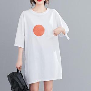 M-3XL Artı Boyutu Kadın T Shirt 100% Pamuk Boy Nefes Kadın T-Shirt Yeni Moda Kadın Kore Tarzı Kadın T-Shirt Tops Tees
