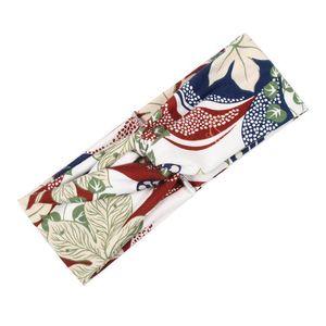 Coreano Multicolor Tie Dye Stampa Tipo di stampa Twist Cross Headband Sport Yoga Turban Fandbands ampio Accessori per copricapo elastici Elastici Q BByhWC