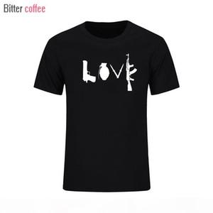 ГОРЬКИЙ COFFEE Summer NWe Бэнксите Любовь с коротким рукавом Футболка ГРАФИК ПРИНТОЙ TEE CROSS Топы Тиса европейского размера