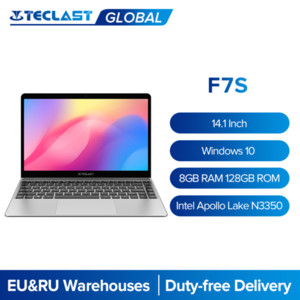 "Teclast f7s 14.1 ""portátil 1920x1080 IPS Notebook 8GB RAM 128GB ROM SSD Slot Windows 10 Intel Apollo Lake Dual Wifi Fino Computador"
