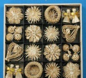 Weihnachtsbaum Ornamente Set Weizen Stroh gewebt Festival Dekoration Weihnachtsdekorationen zum Verkauf Online Weihnachten jllidf Trustbde