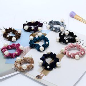 Handmade Pearls Hair Clips Pin for Women Fashion Geometric Flower Barrettes Headwear Girls Sweet Hairpins Hair AccessoriePearl Bling Headban