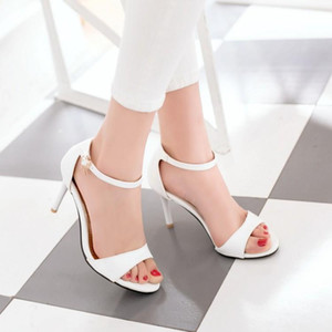 Big Size 11 12 13 14 high heels sandals women shoes woman summer ladies Fish-mouth buckle high-heeled slim-heeled shoes