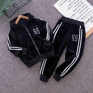 Girls Boys Jogging Clothing Sets Spring Sutumn Niños Casual Sudaderas con capucha + Pantalones 2pcs Unisex Trajes para niños FSHION Traje