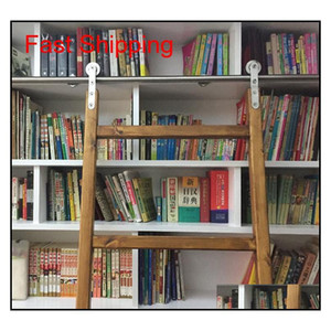 الفولاذ المقاوم للصدأ انزلاق مكتبة مكتبة الأجهزة انزلاق حظيرة سلم مكتبة سلم الأجهزة qylijd new_dhbest