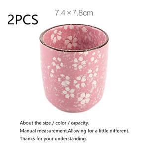 Japanese Tea Cup Ceramic Flower Tea Cups Vintage Teacup Master Mug Container Drinkware Kung Fu Teaware Water Cup Mugs Decoration jllyLn