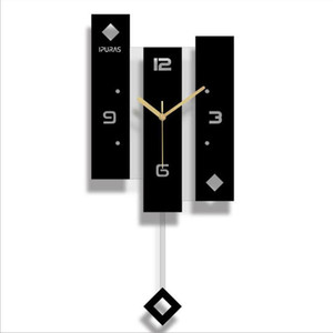 New Wall Clock Quartz Nordic Clock With Pendulum Large Size Wall Watch Modern Design For Home Decoration Big Duvar Saati Decor