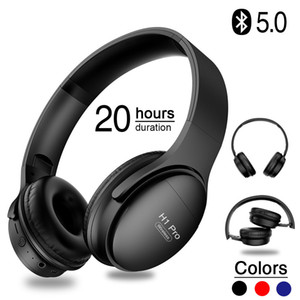 H1 Pro Bluetooth Headphones Wireless Earphone Over-ear Noise HiFi Stereo Gaming Headset with Mic Support TF Card Dropshipping Y1128