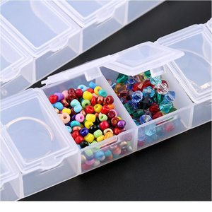7 Slots Rectangle Jewelry Container Compartment Plastic Storage Box Case Jewelry Box For Beads Earrings Packaging & Dis jllweg
