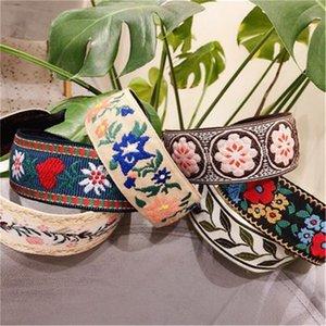 70% de desconto bordado flor headbands para mulheres coreano estilo nacional acessórios de cabelo colorido cabelo cabeça wrap atacado