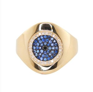 inset cz evil eye vintage women finger ring lucky 2020 new evil eye design jewelry