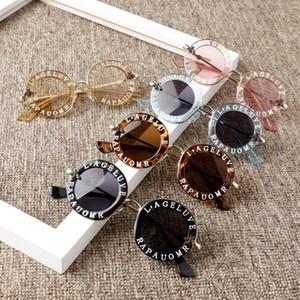 MYT_0119 Vintage Niños Gafas de sol Steampunk Bee Kids Gafas de sol Chicos y niñas Redondo Gafas de sol Oculos
