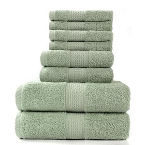 Alanna Полотенце сочетание полотенца набор 8 шт. Набор 2 Банные полотенца 2 полотенца 75 * 35 см и 4 кв.