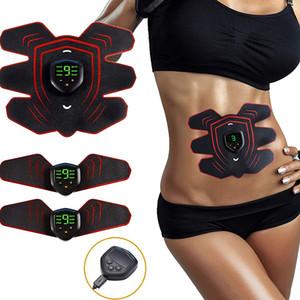 جهاز تحفيز العضلات اللاسلكية مشجعا في البطن العضلات مدرب مضمار الاهتزاز EMS تدليك آلة التخسيس جهاز التدريب