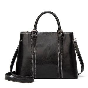 Hot sell wax skin lady fashion handbag restoring ancient ways popular zipper shoulder bag