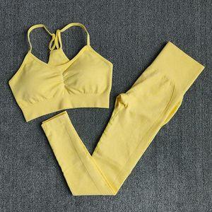 Wareball 4 Größen Hohe Taille Leggings + Push Up BH Set Nahtlose Turnhalle Set Frauen Fitness Yoga Sport Anzüge Workout Sportswear