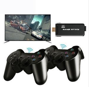 DATA FROG 4K HD Video Game Console 2.4G Double Wireless Controller For PS1 GBA Classic Retro TV Game Console 64GB 10000 Games