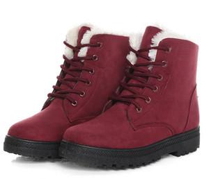 s Bottines d'hiver Bottines pour femmes Chaussures d'hiver Chaussures féminines Bottes de neige Botas Mujer chaud