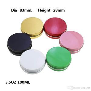 3,5 oz 100 ml 100g multicolores aluminium canettes à vis de couvercle en métal de boîtes de glissière de glissière vides coulissants YTP422