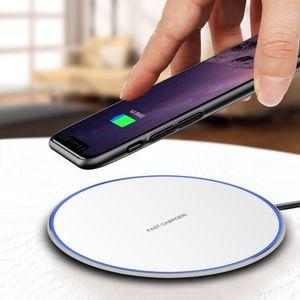 15W Schnelles kabelloses Ladegerät Typ C USB QI-Anlage für Samsung Galaxy S10 S20 S9 Note 10 iPhone 11 Pro XS Max XR x Plus mit Kleinkasten MQ30