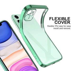 Darbeye Dayanıklı TPU Elektrolizle Temizle Durumda iPhone X 11 Pro iPhone 11 Pro Max Iphone 12 Tam Kapak Kılıfları