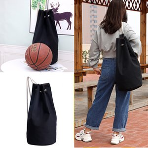 Canvas drawstring pocket backpack basketball bag large capacity outdoor men and women leisure sports football bag campus drawstring bag