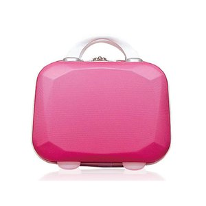 PC Matte Surface Mini Waterproof plastic hardcase Girl's simple plain color portable travel cosmetic bag cosmetic case