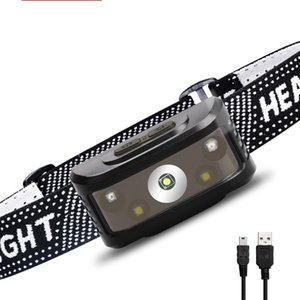 Carga USB Headlamp XPG Run Light Run Pesca Camping À Prova D 'Água Cabeça De Cabeça Caminhadas Suprimentos 20 5TM J2