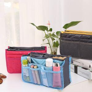 new Fashion Women Lady Travel Insert Handbag Organizer Purse Large Liner Cosmetic Organizer Insert BagTravel Storage Bag G03D