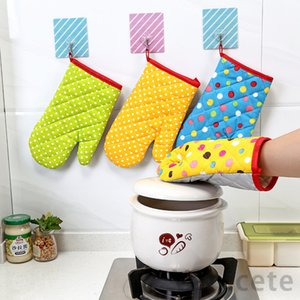 6 Colors Baking Oven Gloves Microwave Heat Proof Resistant Glove Heat Insulation Oven Mitts Bakeware Gloves 300pcs T1I3096
