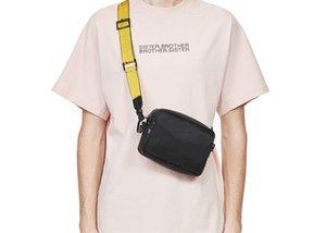 العلامة التجارية الجديدة حقيبة قماش 2020 ماركة متعددة صفراء قبالة حزام الأبيض الكتف الخصر بو حقيبة صغيرة أكياس الصدر الغرض حقيبة الكتف الرجال الفوضى tssnr