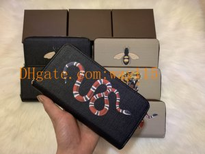 Top High quality Single zipper long wallet Paris plaid style Designer mens wallet women wallet high-end S designer animal G Wallets with box