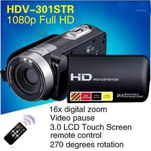 Visión nocturna Video Recorder videocámara Full HD1080P Video Cámara Profesional 270D Rotación 24MP 3.0 '' Cámara digital HD1