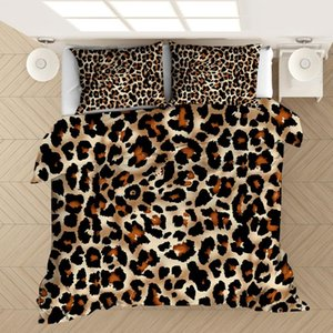 Leopard Zebra 3D Printed Bedding Set Duvet Covers Pillowcases Comforter Bedding Set Bedclothes Bed Linen