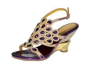 High Heels Rhinestones Women Sandals Open Toe Buckle Strap Crystals Heeled Prom Evening Wedding Party Summer Sandals