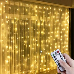 Christmas Garland LED Fairy Lights Curtain String Lights Remote Control Home Decor New Year 2021 Christmas Decorations for Home Y1126