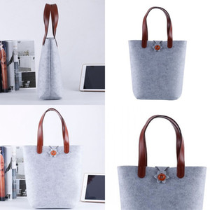 Felt Shopping Bag Color Non Woven Fabrics Handbag Reticule Women Fashion Simplicity Wear Resistant 9fl UU
