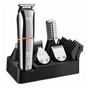 KEMEI 11 em 1 aparador de cabelo profissional aparador elétrico tosquiamento aparador de barba máquina de corte km-5898