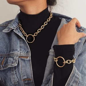 Metall Halsketten Anhänger für Frauen Punk Halskette Kette Choker Collier Ras de Cou Modeschmuck1