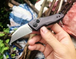 KS 7350 Couteau de pliage tactique automatique Auto CPM154 Blade de lavage en pierre 6061-T6 Poignée Couteilles de poche EDC avec boîte de vente au détail