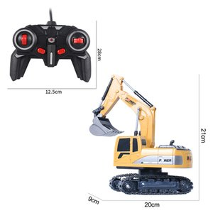 2.4Ghz 1:24 RC Excavator Toy 6 Channel RC Engineering Car Alloy And Plastic Excavator 6CH And 5CH RTR For Kids Christmas Gift 201203