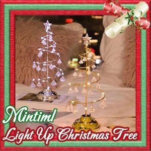Christmas Lights Crystal Christmas Tree Lights Wire Night Table Lamp Holiday Lighting Decoration