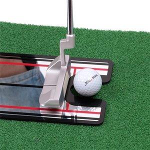Golf Swing Straight Practice Golf Metting Specchio Allineamento Aiuto Formazione Aiuto Swing Trainer Eye Line Golf Accessori 30.5x14.5cm 201124