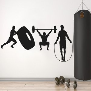 Fitness Wall Decal Sport Workout Motivational Vinyl Window Sticker Decor Training Room Gym Teens Bedroom Interior Decor Art
