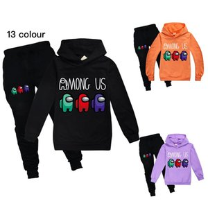 13 colors 2pcs set children Among us fashion casual suit boys and girls sweater + casual trousers Baby Kids Clothing 741