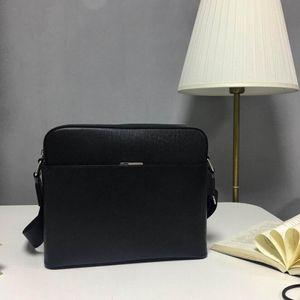 Borsa a tracolla da uomo in pelle completa Top Quality Uomo Cross Body Bag Bag Mens Crossbody Borse Designer Designer Borsa da uomo Genuine Pelle Pelle Borse