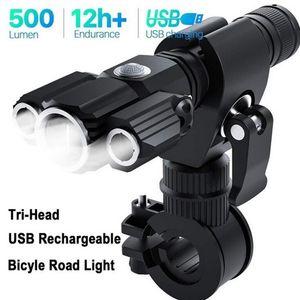 Multifunction LED Light for MTB Road Bicycle Lamp Cycling Bike Light Aluminum Alloy USB Waterproof Bike Flashlight Front Light Headlight XA7
