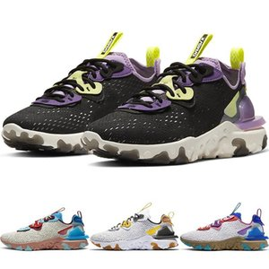New React Vision Triple Black Men Outdoor Running Shoes Desert Oasis Photon Dust Gravity Purple Vast Grey Women Sports Sneakers Cd437
