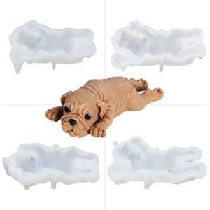 Molde de silicone para cão Mousse bonito Bolo 3D Shar Mold Pei Sorvete Jelly Pudding Blast Cooler Fondant Ferramenta Decoração Gwe3548